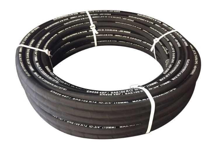 High pressure hydraulic hoses